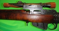 Lee Enfield No.4 with telescopic sight