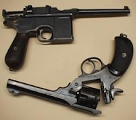 Mauser and Webley pistols